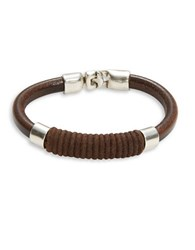 Uno De 50 Camisa Fuerza Leather Bracelet Brown