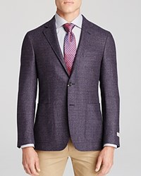 Canali Boucle Kei Classic Fit Sport Coat Purple