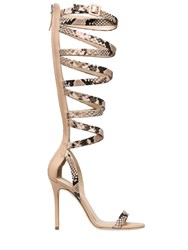 Giuseppe Zanotti For Jennifer Lopez 105Mm Snake Printed Leather Sandals
