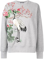 Alexander Mcqueen Japanese Embroidered Sweater Grey