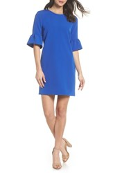 Charles Henry Bell Sleeve Shift Dress Patriot Blue