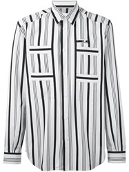 Maison Martin Margiela Striped Long Sleeve Shirt White