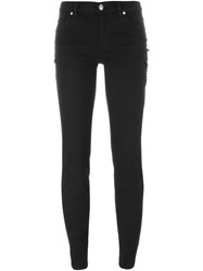 Versus Safety Pin Detail Skinny Jeans Black