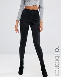 Missguided Tall Vice High Waisted Skinny Jean Black