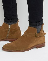 Dune Colorado Suede Boot Tan Brown