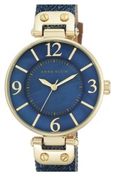 Women's Anne Klein Denim Strap Watch 34Mm