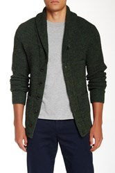 Apolis Suede Elbow Patch Alpaca Blend Cardigan Green