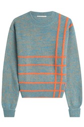Marco De Vincenzo Knit Pullover With Wool Angora And Mohair Multicolor
