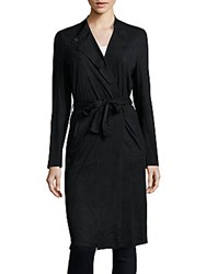 Romeo And Juliet Couture Solid Wrap Dress Black