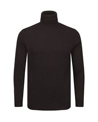Ted Baker Rinko Wool And Cashmere Blend Roll Neck Brown