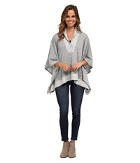 Miraclebody Jeans Quilted Poncho W Body Shaping Inner Shell Heather Grey Women's Coat Gray
