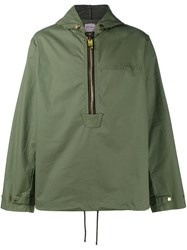 Palm Angels Hooded Anorak Green