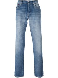 Brunello Cucinelli Stone Washed Jeans Blue