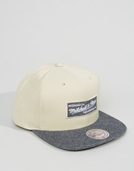 Mitchell And Ness Snapback Cap In Melange Beige