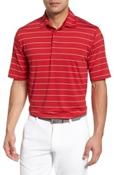Bobby Jones Xh2o Momentum Stripe Jersey Polo Cambridge Red