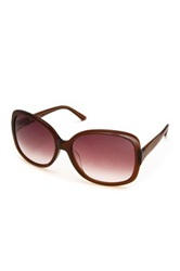 M Missoni Women's Oversized Acetate Frame Sunglasses Brown
