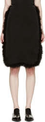Simone Rocha Black Feather Trimmed Skirt