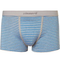 Zimmerli Striped Melange Stretch Cotton Boxer Briefs Blue