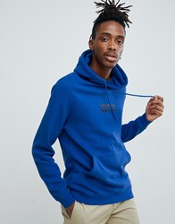 Globe Overhead Hoodie With Chest Logo In Blue