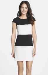 Women's Marc New York By Andrew Marc Colorblock Stretch A Line Dress