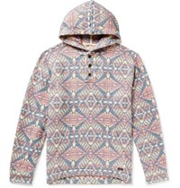 Faherty Pacific Organic Brushed Cotton Jacquard Hoodie Multi