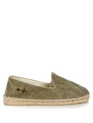 Manebi La Havana Cotton Canvas Espadrilles Green