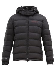 Valentino Moon Dust Print Quilted Down Jacket Black