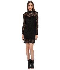 The Kooples Laminated Lace Dress Black Women's Dress