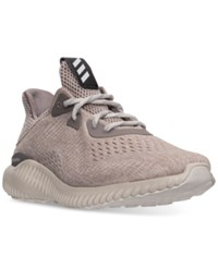 Adidas Men's Alpha Bounce Em Running Sneakers From Finish Line Tech Earth Crystal Brown