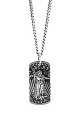 King Baby Studio American Voices Liberty Dog Tag Necklace Silver