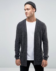 New Look Fluffy Cardigan In Grey Grey