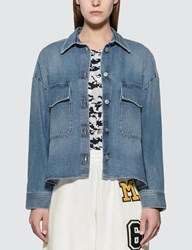 Maison Martin Margiela Mm6 Oversized Denim Jacket Blue