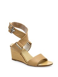 Rag And Bone Damien Leather Wedge Sandals Black