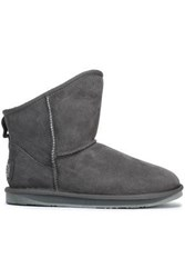 Australia Luxe Collective Shearling Ankle Boots Gray