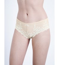 Wacoal Embrace Lace Stretch Lace Tanga Briefs Naturally Nude Ivory