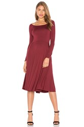 Rachel Pally Long Sleeve Lovely Dress Burgundy