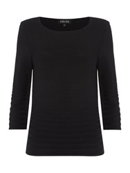 Episode 3 4 Sleeve Structured Knitted Top Black
