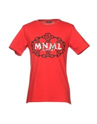 Mnml Couture T Shirts Red