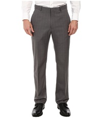 Perry Ellis Travel Luxe Modern Fit Windowpane Plaid Pants Charcoal Men's Dress Pants Gray