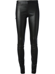 The Row 'Moto' Skinny Trousers Black