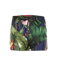 For Restless Sleepers Printed Silk Twill Shorts Multicoloured