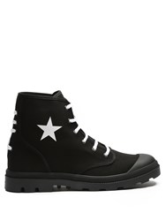 Givenchy Olympus Star Print Canvas Boots Black