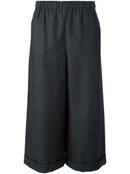 Daniela Gregis Cropped Wide Leg Trousers Grey
