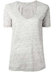 By Malene Birger Jyttio T Shirt Women Linen Flax S Grey