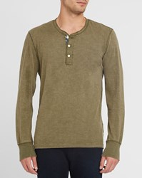 Denim And Supply Ralph Lauren Khaki Henley Grandad Collar T Shirt