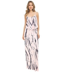 Culture Phit Monicah Maxi Dress Light Pink Tie Dye Women's Dress Neutral