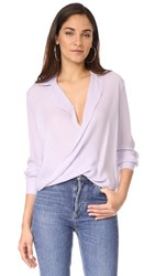 L'agence Rita Drape Front Blouse French Lilac