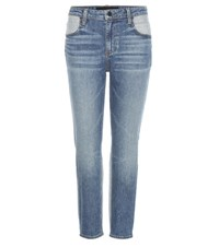 Alexander Wang Ride Cropped Jeans Blue