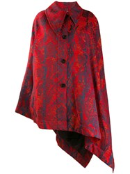 Vivienne Westwood Cape Style Coat Red