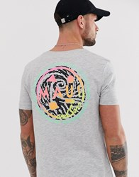 Tom Tailor T Shirt With Maui Back Print Grey